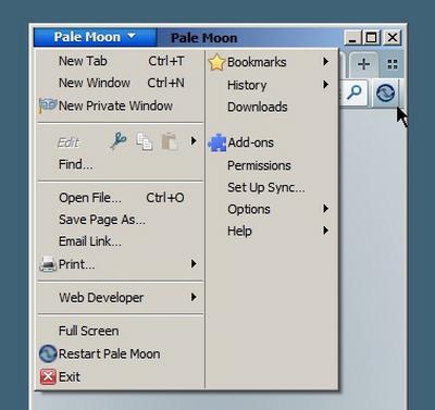 Pale Moon Add Ons Restart Browser